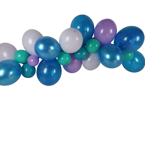 Ballongirlande lila, türkis, violett und aquamarin