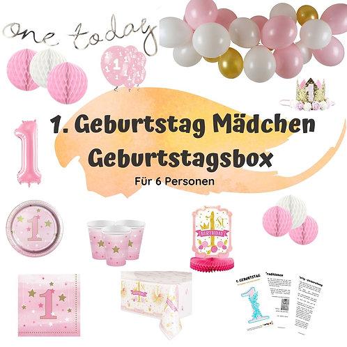 Geburtstagsbox 1. Geburtstags für 6 Personen