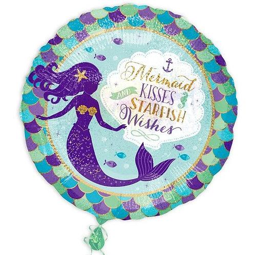 Folienballon Meerjungfrau