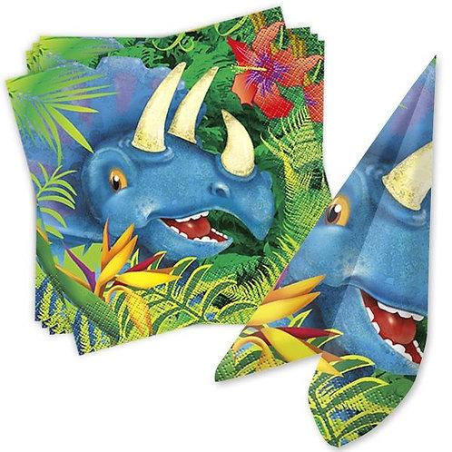 Serviette Dino Triceratops