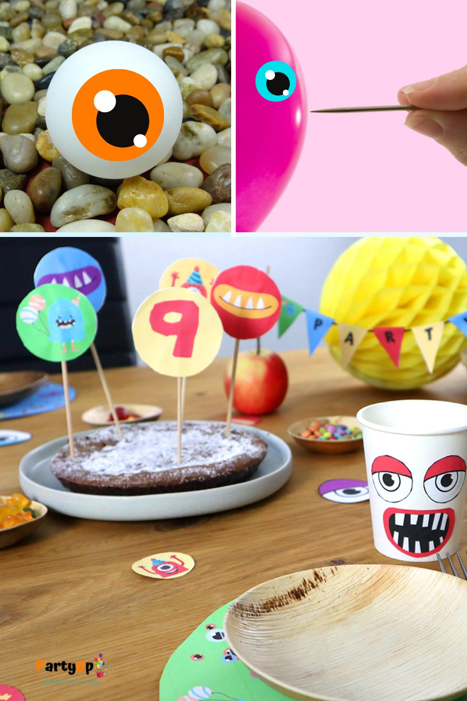 Spielideen für die Monsterparty passend zu unserer DIY Monsterparty Box zum selber ausdrucken