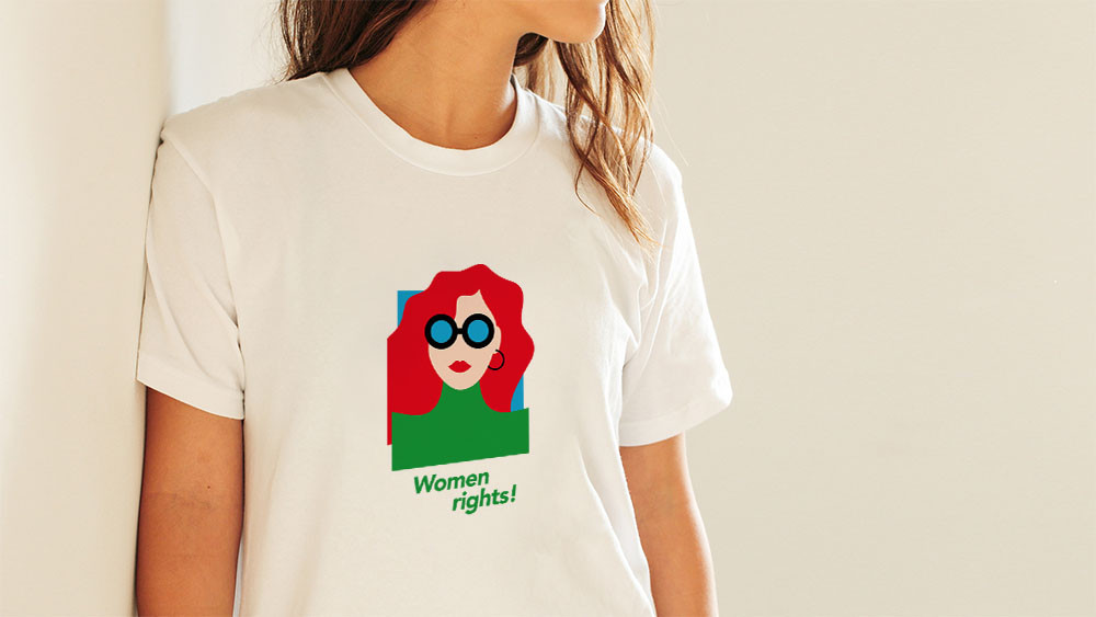 Women's rights | T-shirt donna 100% cotone
