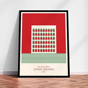 Palazzo della Civiltà Italiana 1953 art print