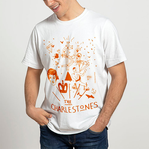 The Charlestones | T-shirt unisex in cotone | Arancione