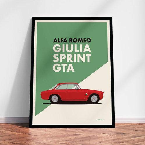 Alfa Romeo Giulia Sprint GTA | Quadro in alta qualità