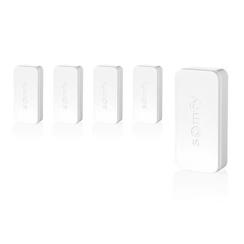 Set di 5 sensori di vibrazione Somfy IntelliTAG per sistemi di allarme Somfy Protect