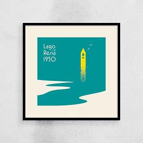Lago di Resia 1950