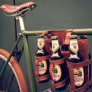 Castello - Porta-birre in pelle