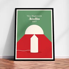 Oluce Atollo Vico Magistretti art print