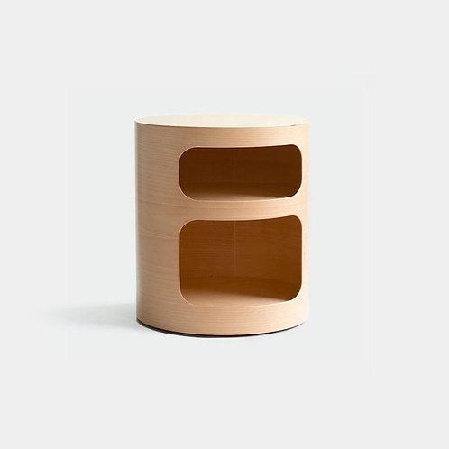 Oh | Tavolino in legno con vani contenitori