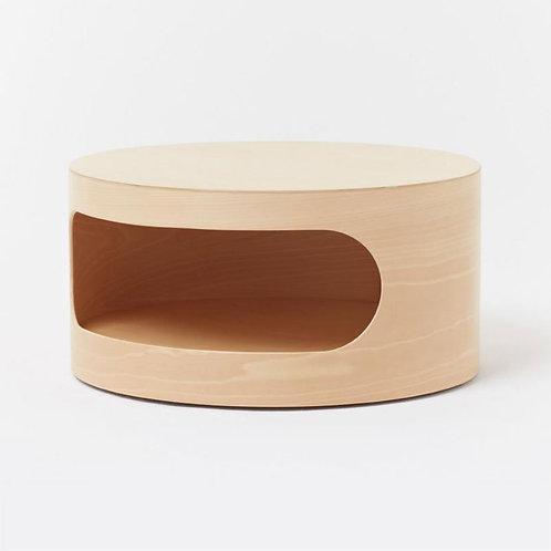 Settanta | Tavolino in legno con vano contenitore