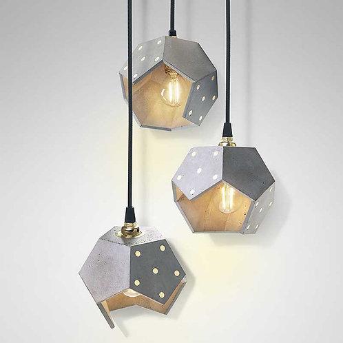 Basic Twelve Trio | Lampada magnetica a sospensione in cemento