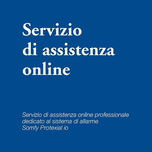 Servizio di assistenza online per sistema di allarme Somfy Protexial io