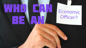 Who can be an economic officer?