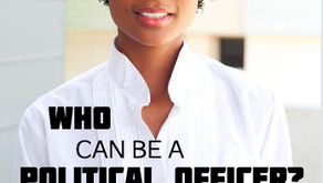 Who can become a political officer?