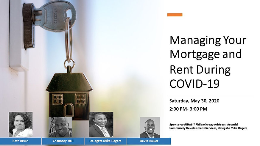 Mortgage and Rent During COVID-19 Cover.