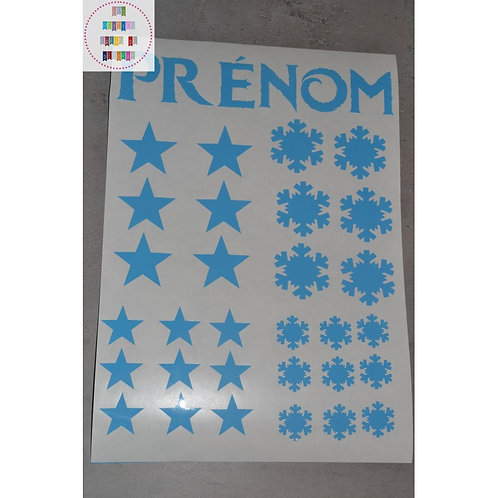 Planche stickers A4 - Flocons & étoiles