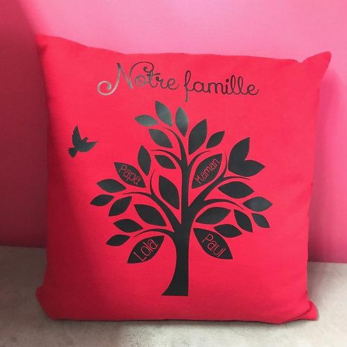 Coussin arbre de famille