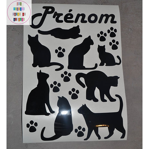 Planche stickers A4 - Chats