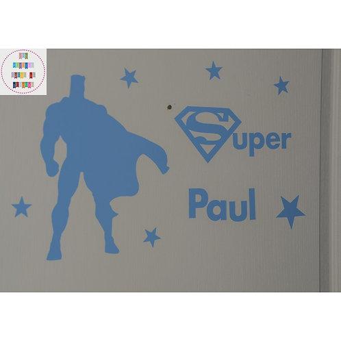 Planche stickers A4 - Super héros