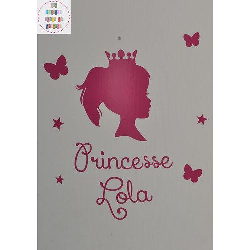 Planche stickers A4 - Princesse de profil