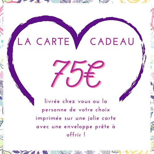 Carte Cadeau 75€