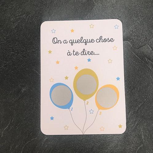 Carte à gratter 3 ballons