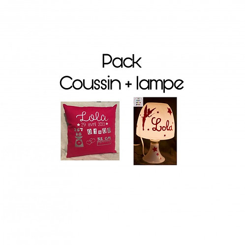Pack coussin + lampe
