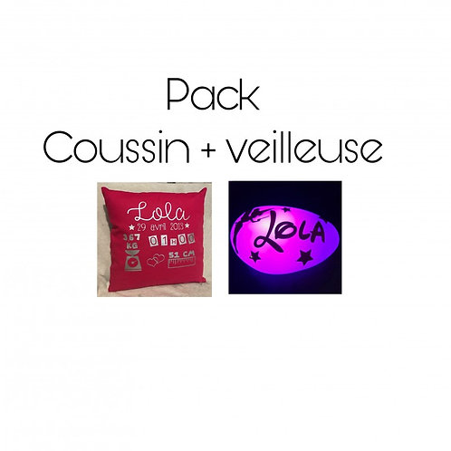 Pack coussin + veilleuse
