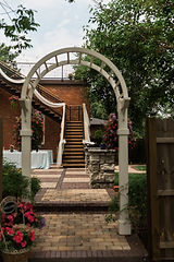 Staircase Decorated for Wedding