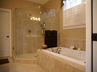 Corner Glass Door Shower - Bathtub remodel, bathroom remodel
