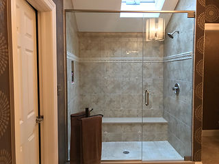 Walk-In Shower with Bench Seat
