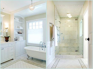 Clawfoot Tub - Walk-In Shower Bathroom Remodel