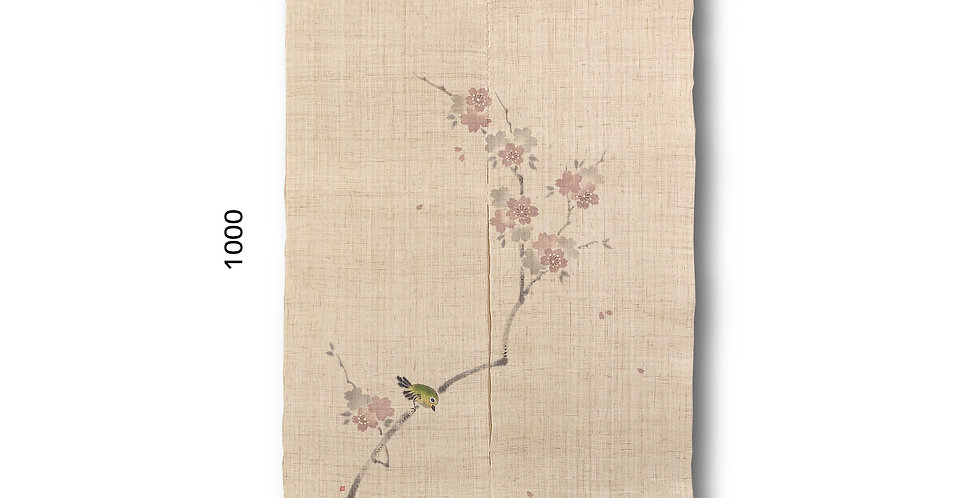 【現品】桜にメジロ 荒目麻