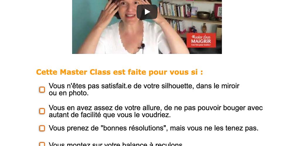 Master Class Maigrir une fois pour toutes
