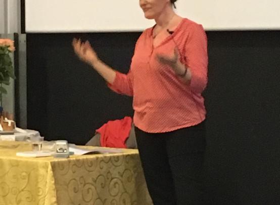 Catherine en conférence