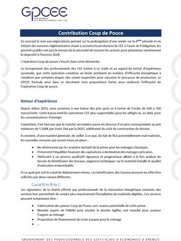Contribution GPCEE Coup de Pouce
