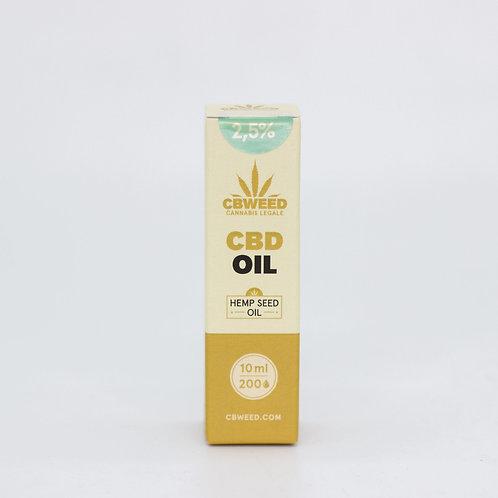 Olio aromatico al CBD 2,5% con olio di canapa