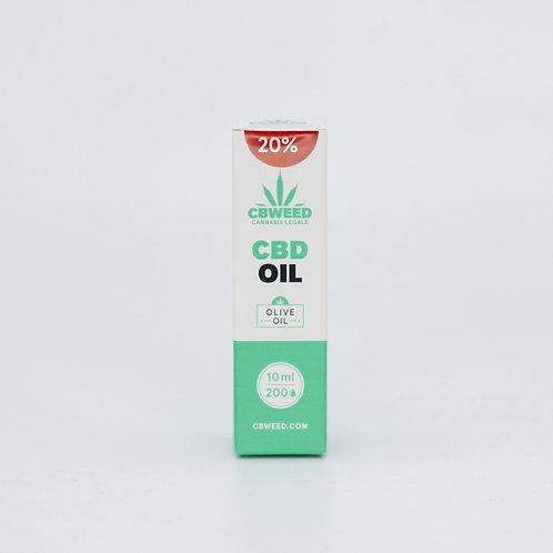 Olio aromatico al CBD 20% con olio di oliva