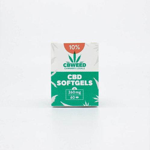 Capsule Softgel con Olio aromatico al CBD 10%