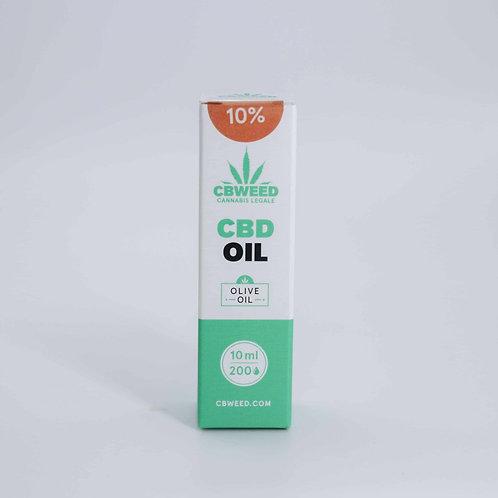 Olio aromatico al CBD 10% con olio di oliva