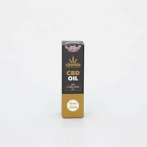 Olio aromatico al cumino con CBD 5%