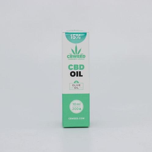Olio aromatico al CBD 15% con olio di oliva