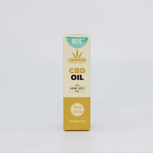 Olio aromatico al CBD 15% con olio di canapa