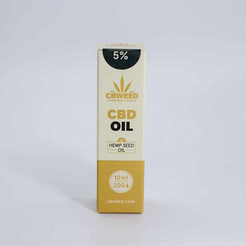 Olio aromatico al CBD 5% con olio di canapa