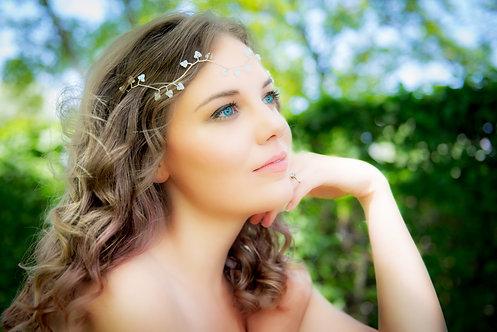 Boho style headband/halo with Swarovski crystals