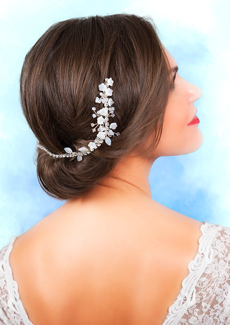 """Opal White Headdress """"Mirusia"""""""