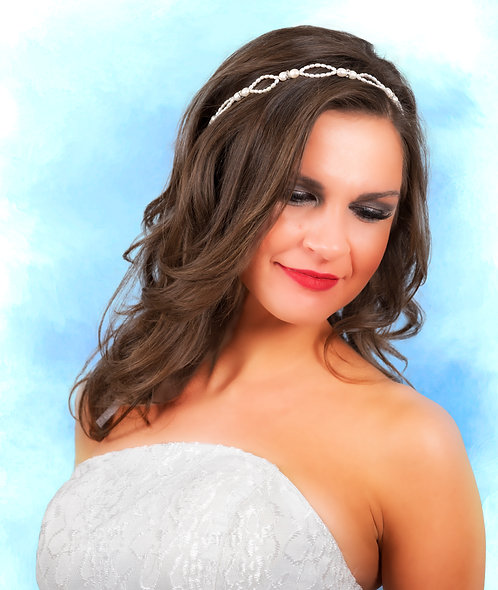 Pearls&Crystals Hairvine