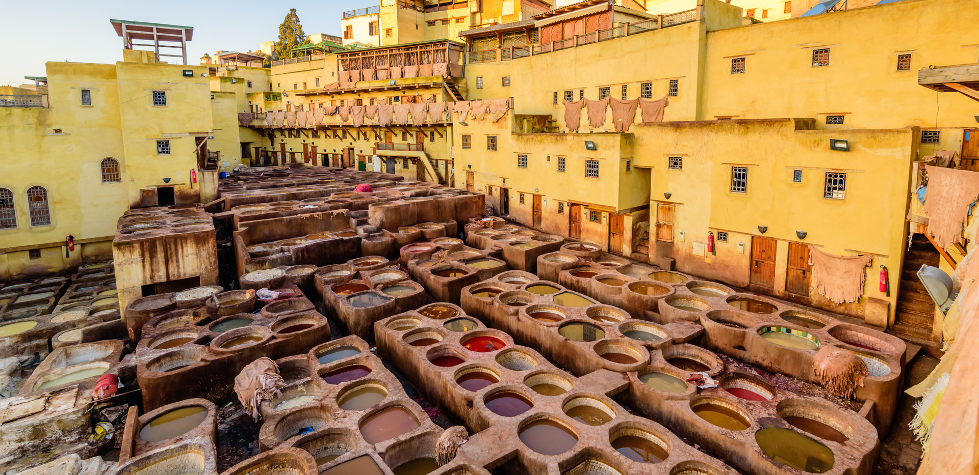 Sightseeing of Morocco. Tanneries of Fez
