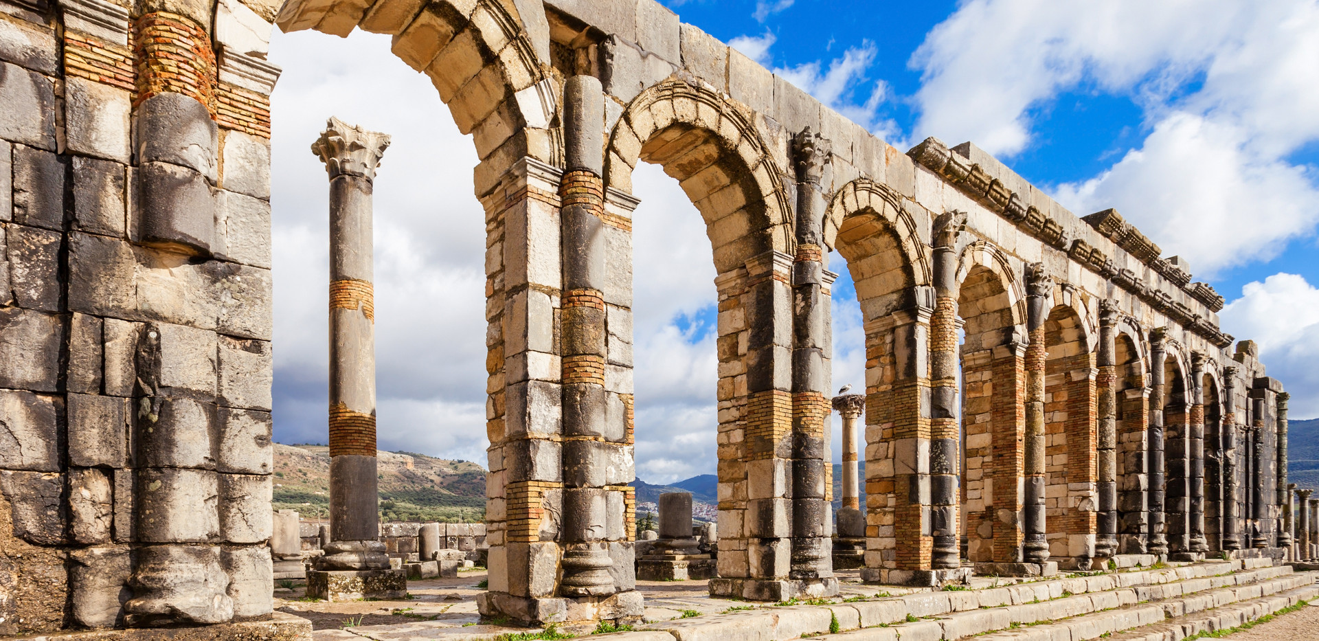 Volubilis near Meknes in Morocco. Volubi